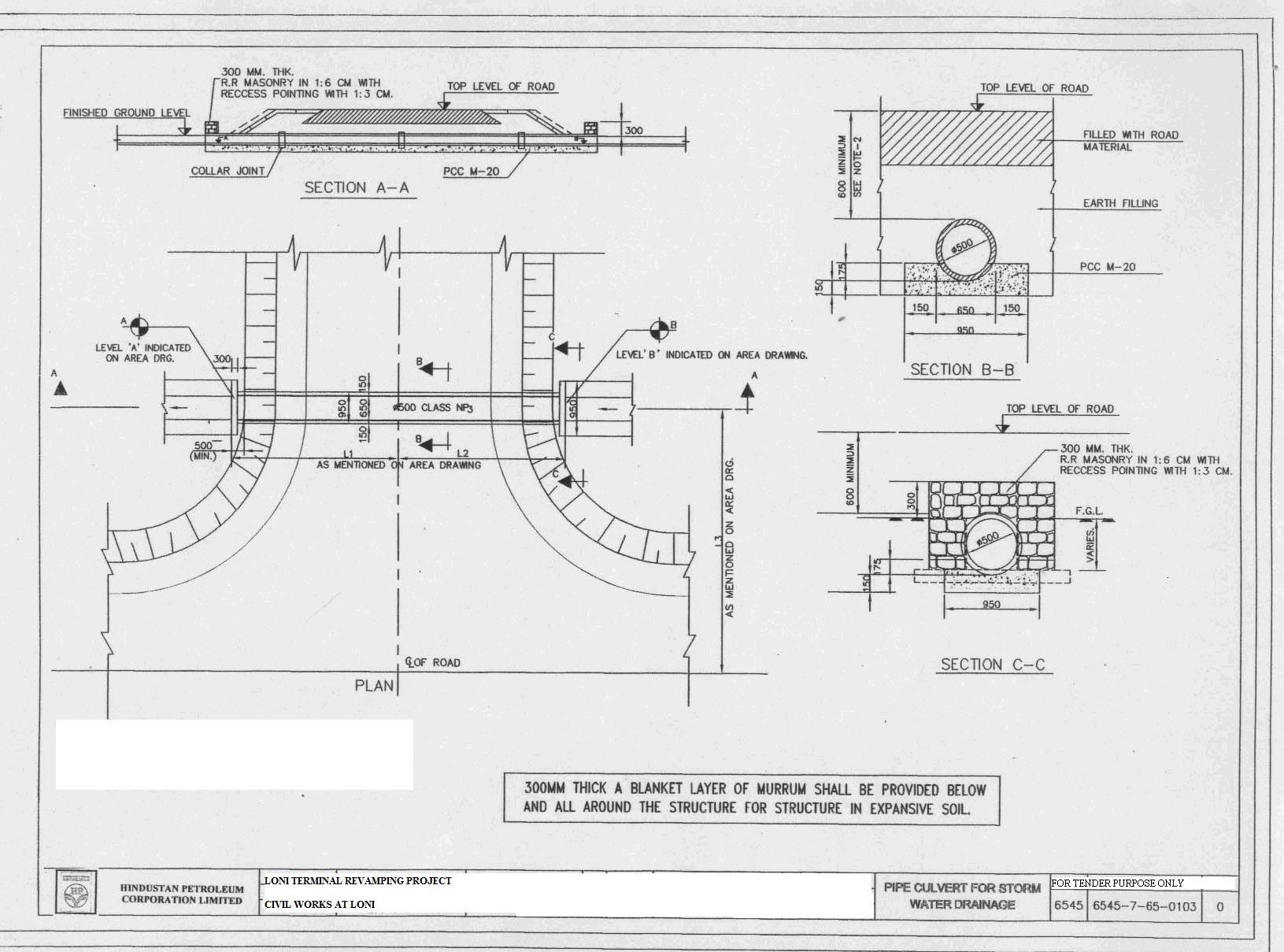 Simple Slab Culvert Design Drawings : culvert details http://tenders.hpcl.co.in/tenders/tender_prog/Tenders ...